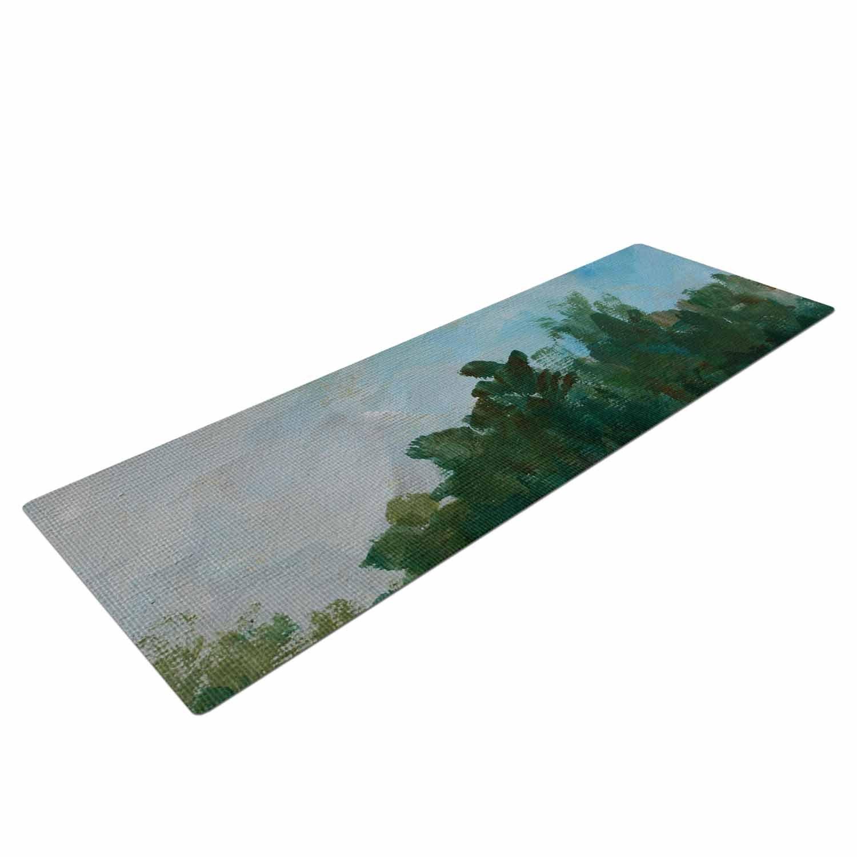 KESS InHouse Cyndi Steen Stand of Trees Green Blue Yoga Mat CS2040AYM01 72 X 24 72 X 24 KESS Global Inc