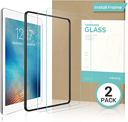 2 Pack For iPad 9.7 2018 //2017 Pro 9.7 Air 1//2 Tempered Glass Screen Protector