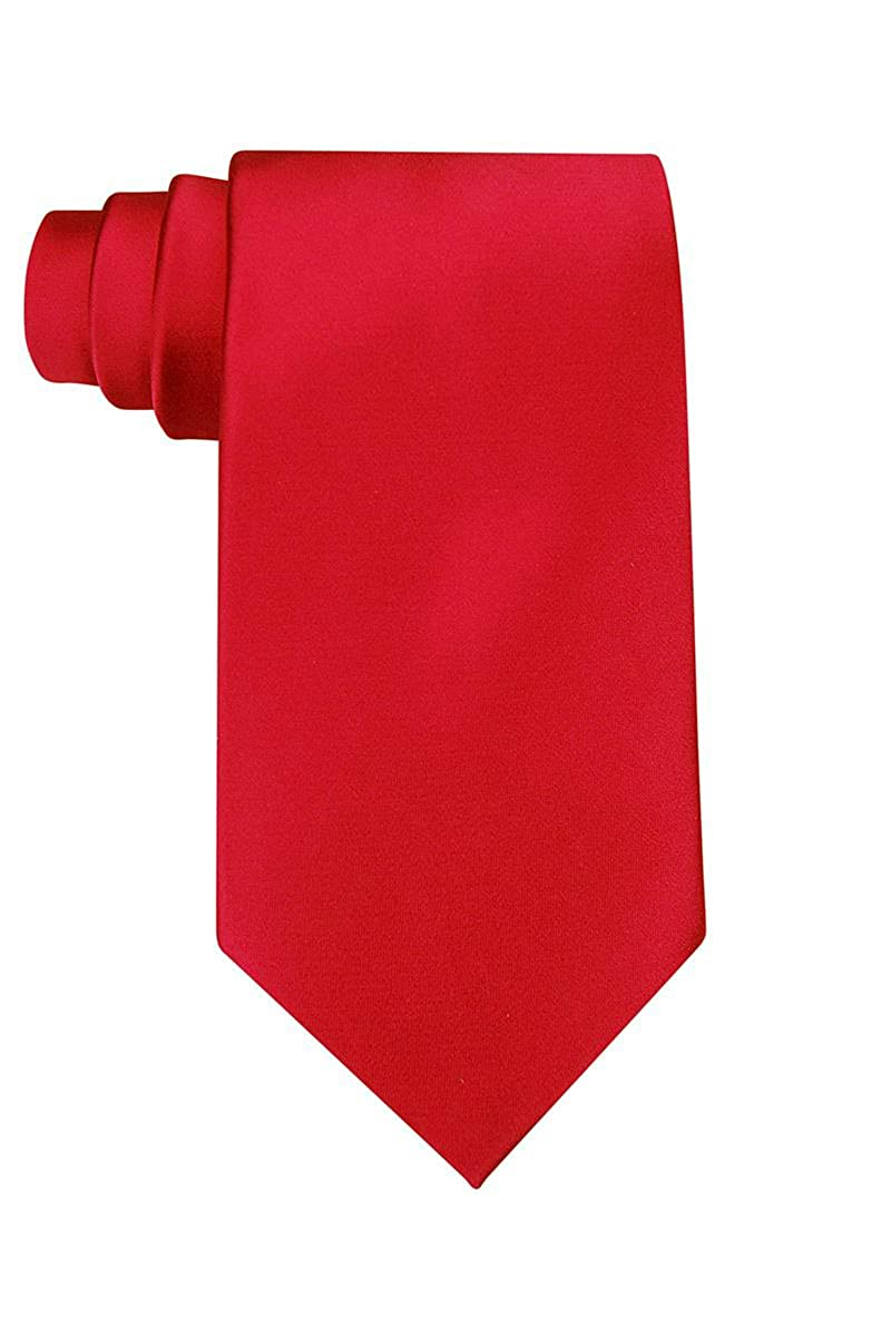 Solid red polyester tie KA-1000701