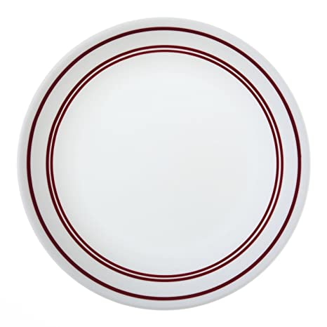 Amazon Com Corelle Livingware Classic Cafe Red 8 1 2 Lunch Plate