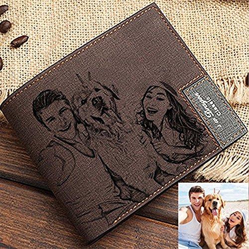En Famille gris Tant Photo Kaki gris Foncé amant kaki ami Que Cadeau Foncé Portefeuille Personnalisé Pour Et La Ajouter Texte ZEPxXq