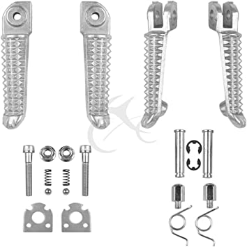 Front Rear Footrests Foot Pegs For Yamaha YZF R1 2002-2014 R6 2003-2012 04 05 06