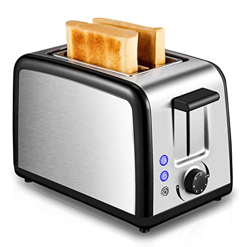 Toaster 2 Slice Warming Rack Brushed For Breakfast Bread Toasters