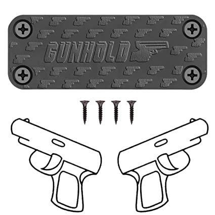 GUNHOLD Gun Magnet - Magnetic Gun Mount & Car Holster - HQ Rubber Coated 43  lbs Firearm Accessories  Install in Your car, Truck, Wall, Vault, Bedside,