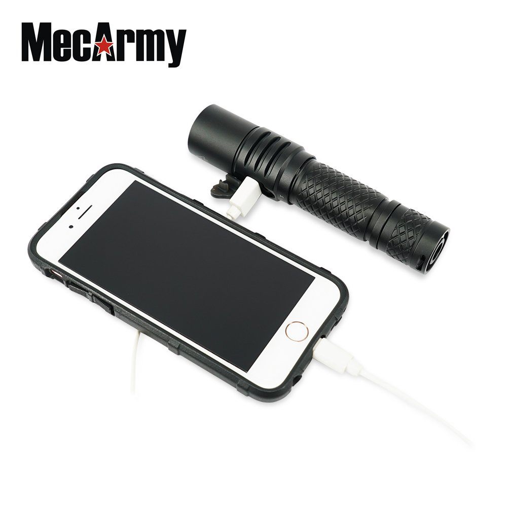 MOT 10, no battery Mecarmy MOT10 1000 lumen Compact USB Rechargeable Pocket flashlight
