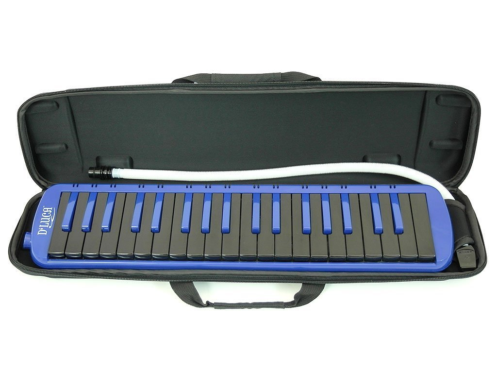 D'Luca M37-EVA-BL Blue 37 Key Jungle Melodica with EVA Carrying Case by D'Luca (Image #3)