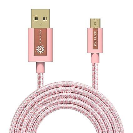 STYLETECK Cable Micro USB 30CM, Carga Rápida Trenzado Nylon, Cable Cargador Movil y Fast Datos Sincronización Compatible con Samsung Galaxy S7/S6 ...
