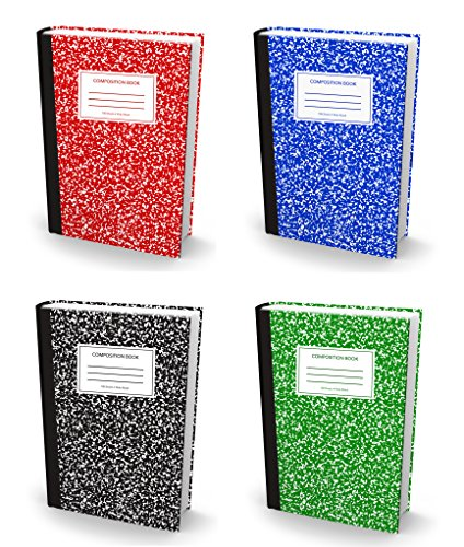 "BOOK SOX Stretchable Book Cover: JUMBO COMPOSITION BOOK Value Pack of 4 Jackets Fit Most Hardcover Textbooks up to 9"" x 11"" Adhesive-Free Fabric School Book Protector. Easy to Apply. Wash & Re-Use"