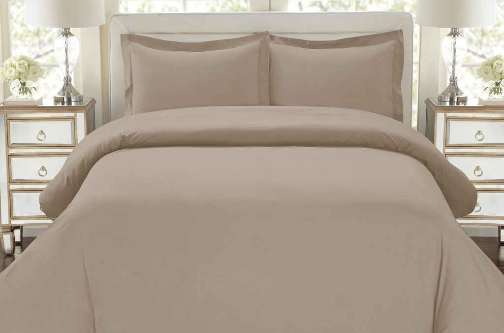 Hotel Luxury 3pc Duvet Cover Set-1500 Thread Count Egyptian Quality Ultra Silky Soft Top Quality Premium Bedding