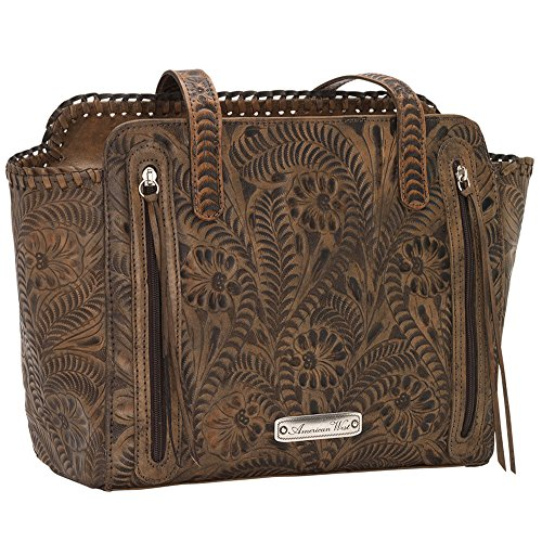 American West Women's Copper Annie's Concealed Carry Tote Tan One Size by American West (Image #2)