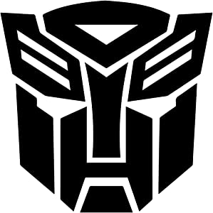AGL Autobot Inspired Transformer Decal Sticker for Car Window, Laptop and More [4 x 4] inches Black Color