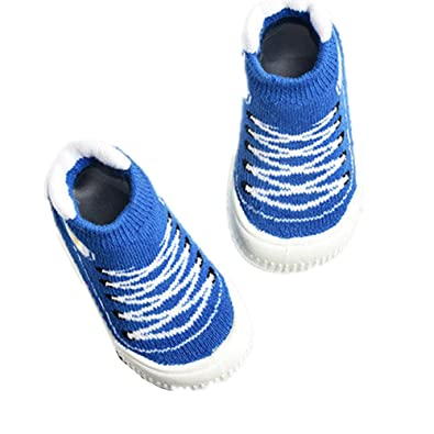 MIKA HOM Baby Boy Girl Moccasins Non-Skid Indoor Slipper Toddlers Winter Warm Shoes Socks