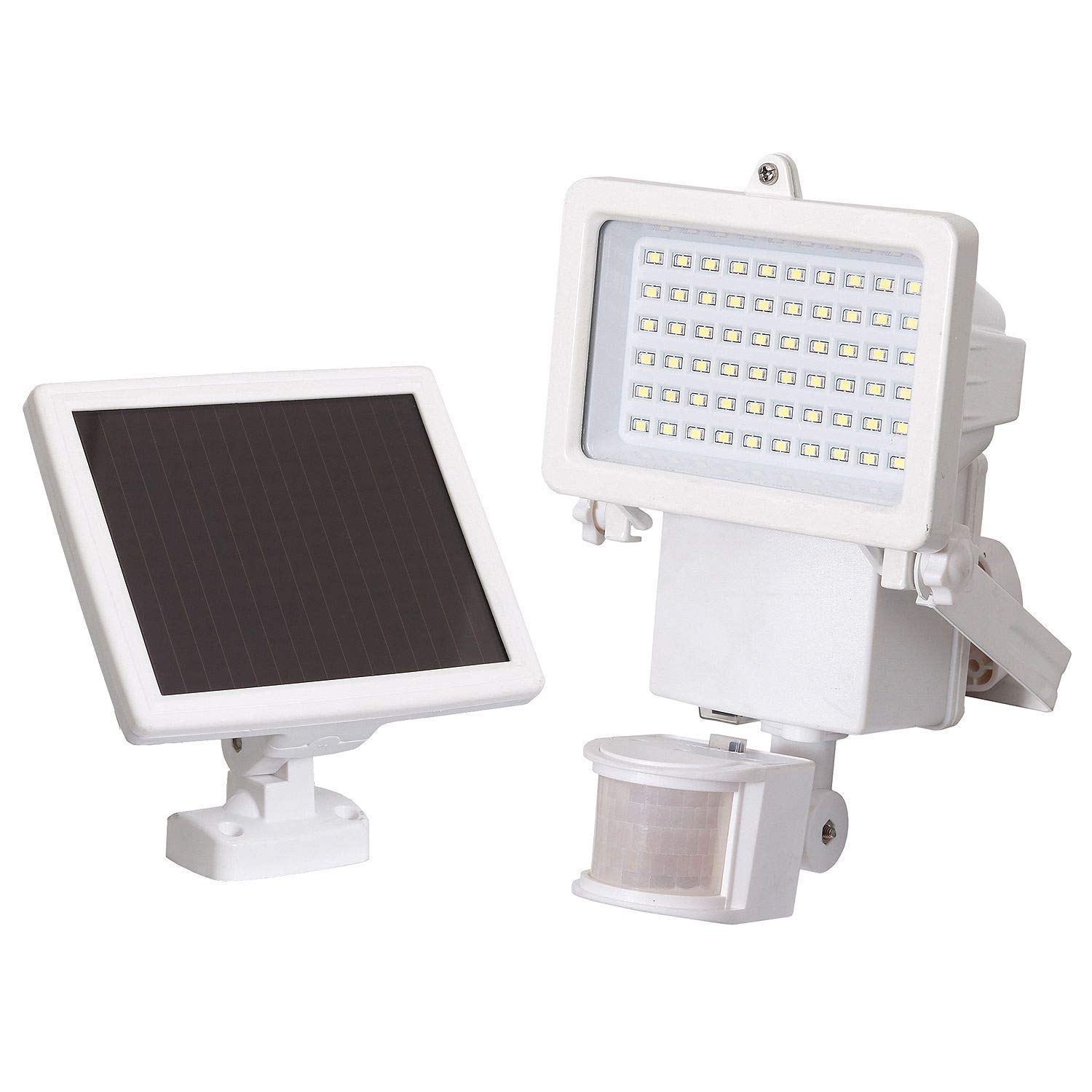 Westinghouse 60 LED PIR Motion Activated Solar Security Light, White, 1000 Lumens