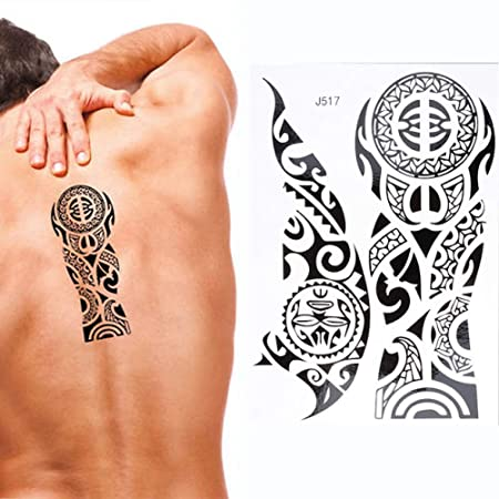 tzxdbh 7 Unids-Maquillaje Corporal Tatuaje 14.8 * 21cm Vaca ...