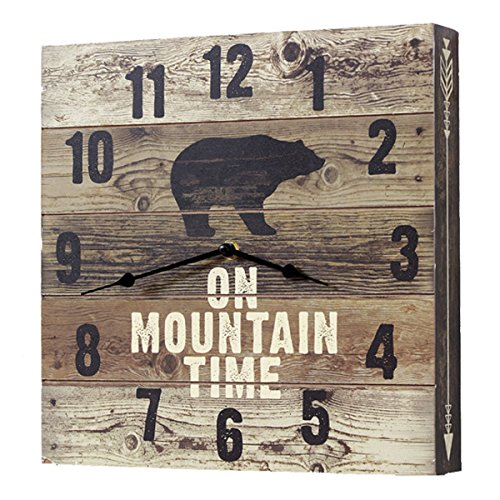 Black Forest Decor Bear Mountain Time Wall Clock -