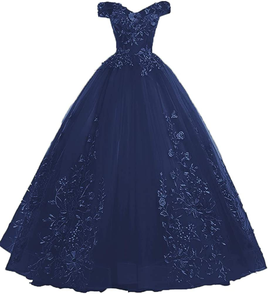 EileenDor Women's Quinceanera Dresses Lace Shoulde Max 84% OFF Appliques All items free shipping Off