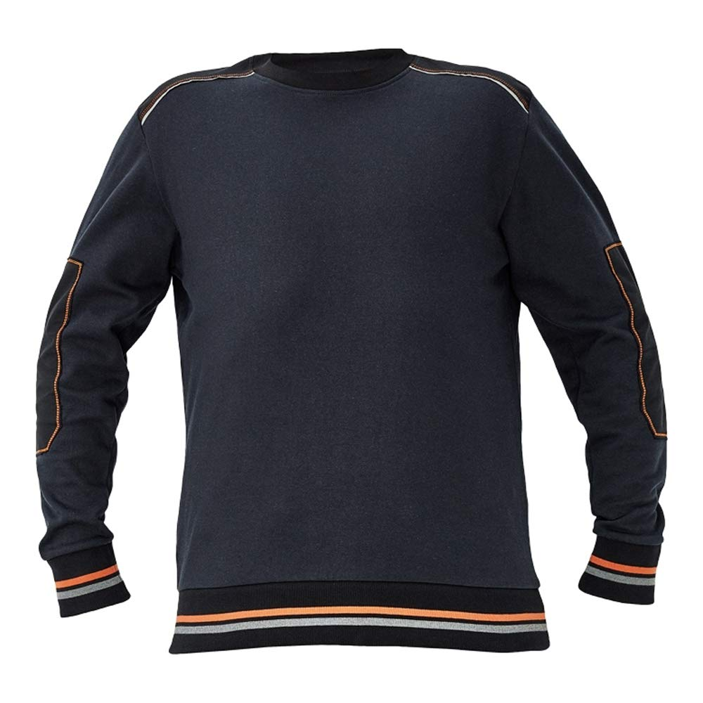 A2 XL 20 St/ück CERVA 0306 0068 Knoxfield Sweatshirt Anthrazit//Orange