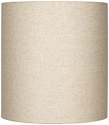 15 Linen (Oatmeal Tall Linen Drum Shade 14x14x15 (Spider))