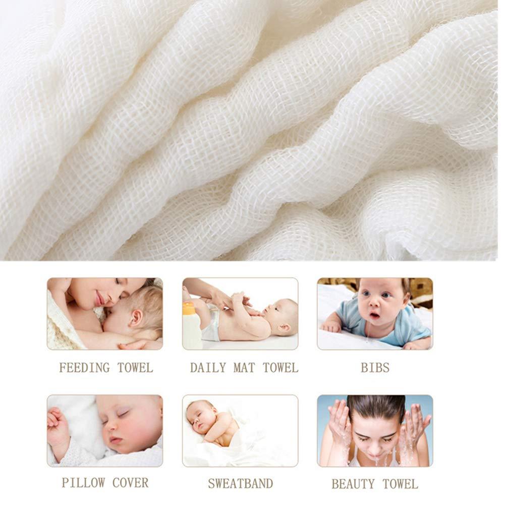 10 Pack 30cmX30cm weiche Neugeborenen Baby Gesicht Handtuch f/ür empfindliche Haut leepem Baby nat/ürliche Musselin Baumwolle Baby Wipes Baby Musselin Waschlappen Rein wei/ß