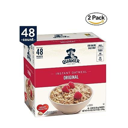 Quaker Cereal de desayuno instantáneo de avena: Amazon.com ...