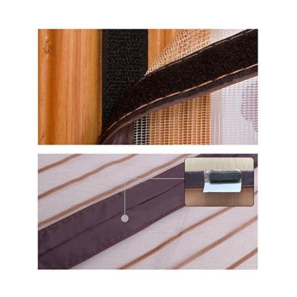 Zanzariera magnetica, Crittografato Tenda anti-zanzara Porta sullo schermo morbido magnetico Schermi di velcro… 5 spesavip
