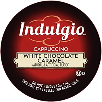 Indulgio Cappuccino White Chocolate Caramel 12 Count Single Serve Cup For Keurig K