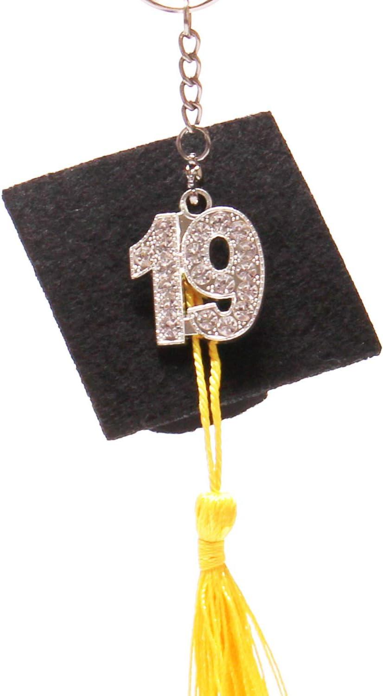 Silver Mayam 2 Pieces 19 Year Charm Graduation Charm Pendants for Graduation Tassel and DIY Crafts