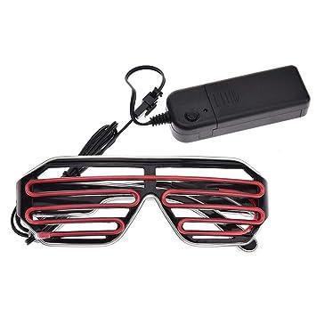 große Auswahl online hier verschiedene Farben Coseyil Neonbrillen mit Leuchtenden Shuttern, EL-Draht-LED ...