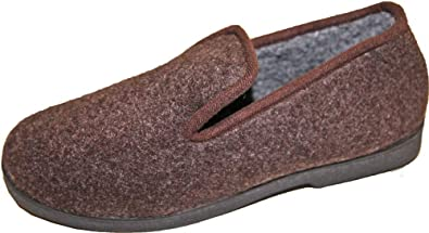 Pierre-cedric Chaussons Pantoufles Charentaise Fourrée Polaire Homme  Confortable (40, Marron) 70c88298cd13