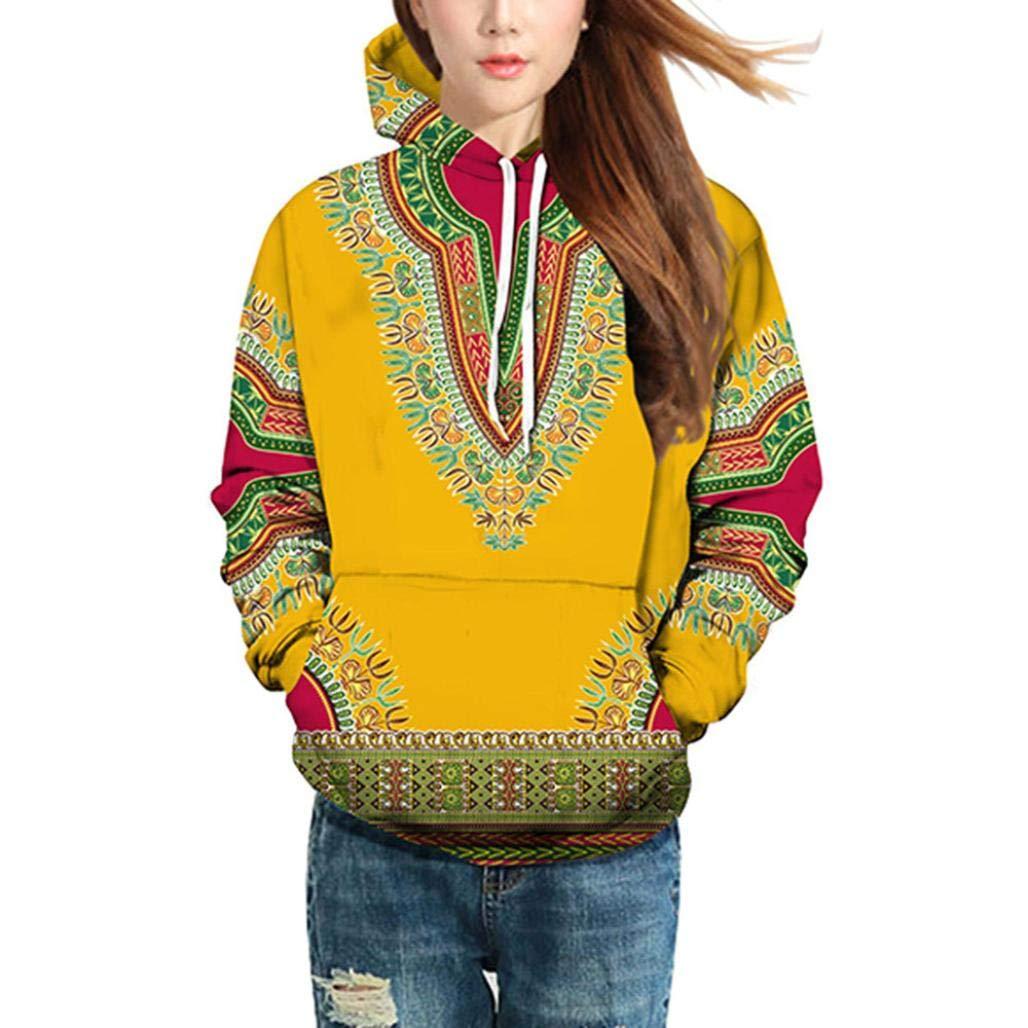 Usstore  T-Shirts for Men,African Print Autumn Blouse Hoodie Sweatshirt Top Outwear