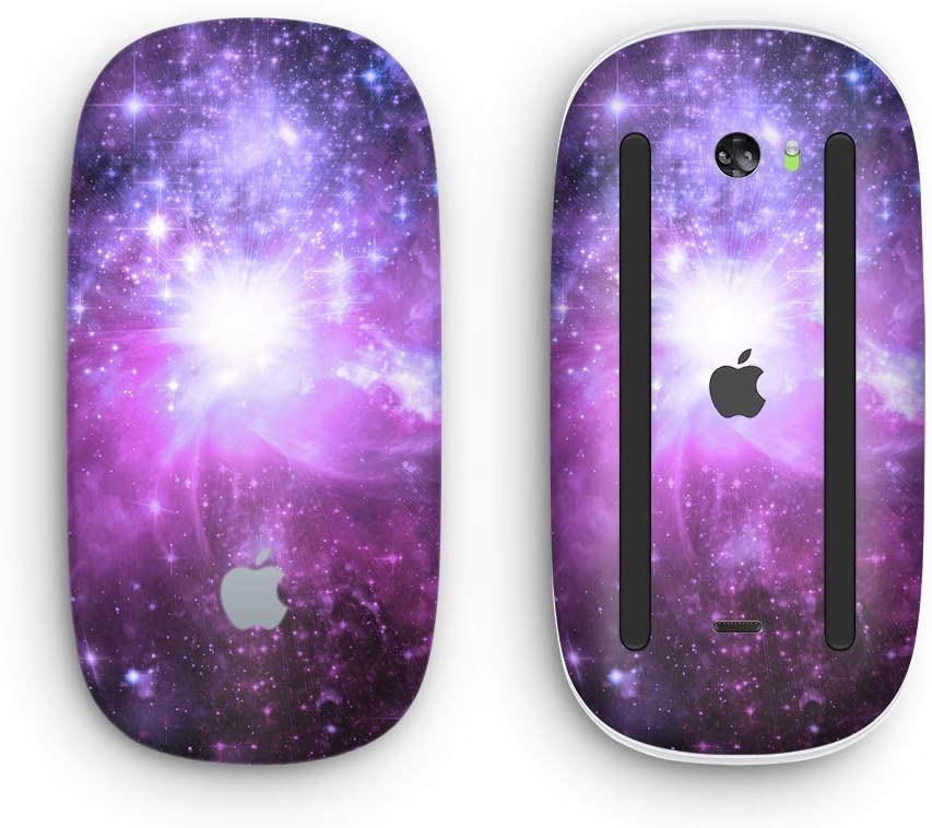 Violet Glowing Nebula Design Skinz Premium Vinyl Decal for The Apple Magic Mouse 2 with Multi-Touch Surface Wireless, Rechargable