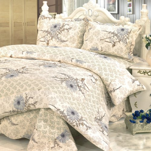 Blancho Bedding [Dandelion's Dream] 3-Pieces Printed-Quilted Cotton Quilt Set (Full/Queen Size) from Blancho Quilt
