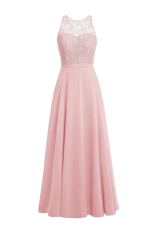 Sweet Kisses Women\'s Chiffon Bridesmaid Dresses Lace Formal Evening ...