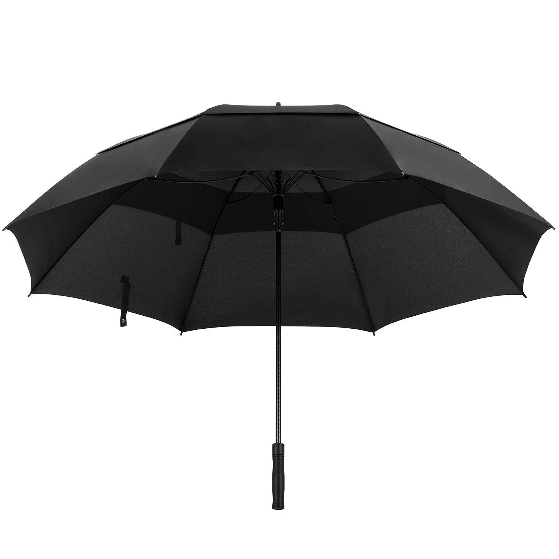 Oak Leaf 68 Inch Large Golf Umbrella Windproof Lightweight Sun Rain Umbrella