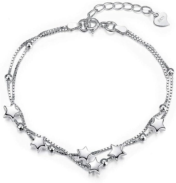 925 Silber Damen Armband Armkettchen Armkette Armschmuck Fußkette Filigran