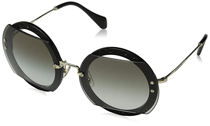 523a0ff14b7e Amazon.com  Miu Miu Women s Glitter Round Sunglasses