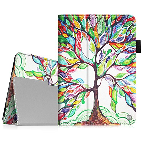 Fintie Apple iPad Air Folio Case - Slim Fit PU Leather Smart Stand Protective Cover with Auto Sleep / Wake Feature for iPad Air 2013 Model, Love Tree