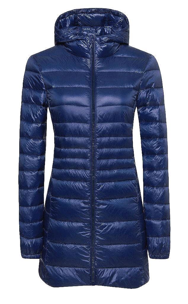 ilishop Womens Winter Outwear Light Coat Hooded Down Jacket