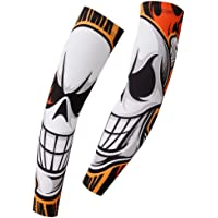 Spoz Pro Skull Design Breathable Arm Sleeves Armwarmers