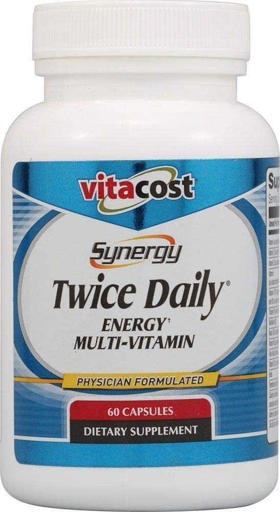 Vitacost Synergy Twice Daily Energy Multi-Vitamin — 60 Capsules