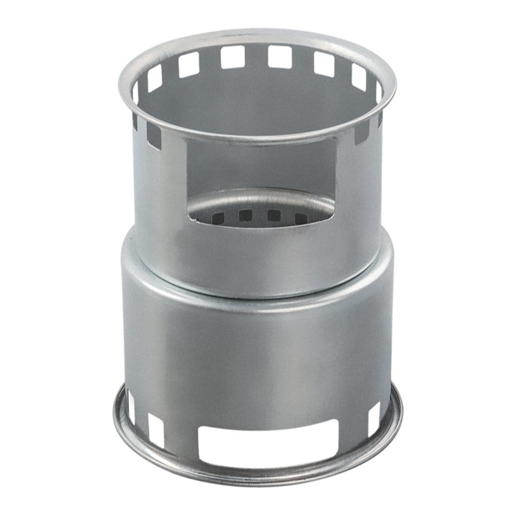 outad camping stove portable stainless steel alcohol barrel with mesh bag for bbq camping picnic