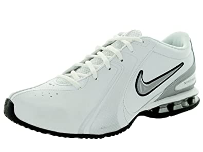 6e6b1537a74141 Nike Men s Reax Trainer III Synthetic Leather Training Shoe White Metallic  Silver Size 7 M