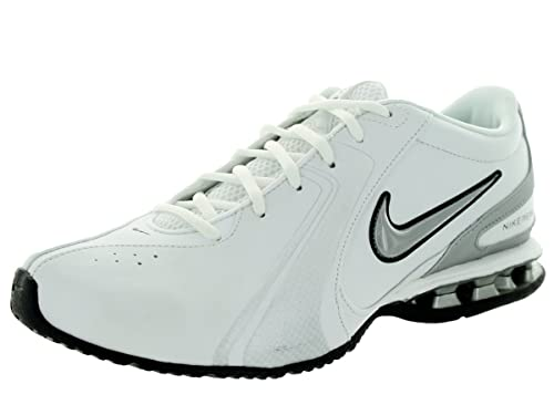 reputable site d7672 105c1 Nike Men s Reax Trainer III Synthetic Leather Training Shoe White Metallic  Silver Size 7.5 M