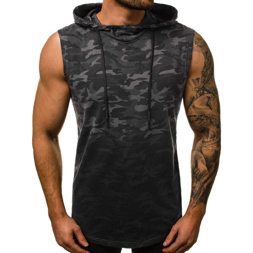 FUNOC Men Stringer Bodybuilding Tank Top Fitness Singlet Sleeveless Muscle Vest