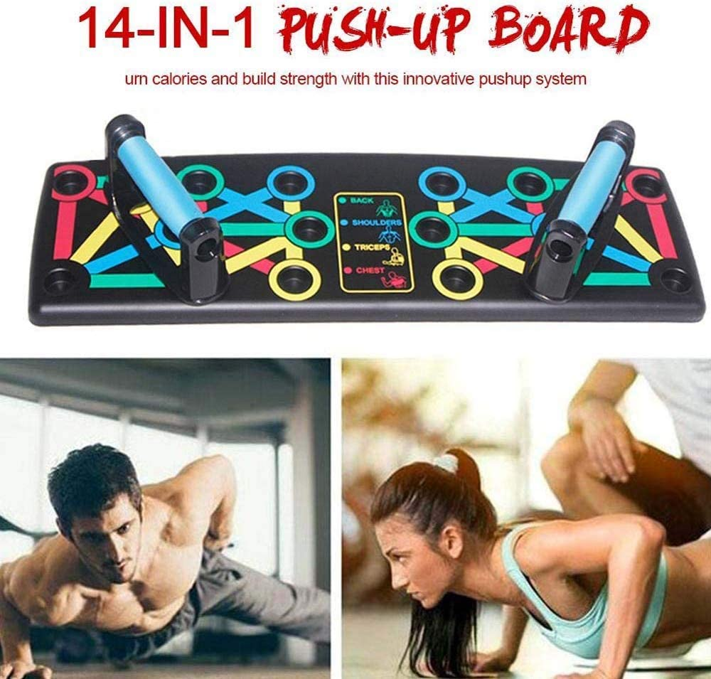 Dyfree 14in-1 Push-up Support Fitness Equipment,System Push-up Bracket Board,Foldable Push Up Rack Board Train