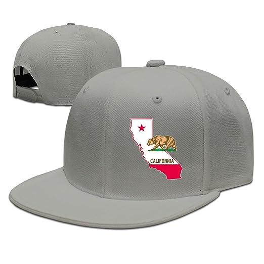 California State Map Cali Bear Style Visor Hats Cap Unisex Baseball ... 9424fde02582
