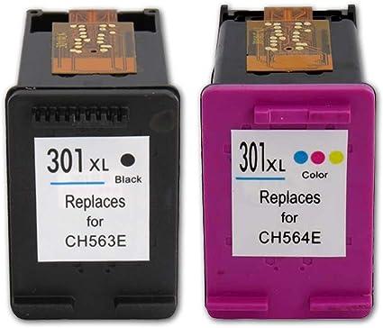 TiAN – 2 compatible HP301 X L negro 301 x l color cartuchos de tinta para HP DeskJet 1000/1010/1050/1510/1512/1514/2050/2050 A/3050/2510/2540/2542/2544/3000/3050, etc.: Amazon.es: Oficina y papelería