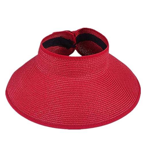 ReachTop Adjustable Wide Brim Sun Visor Hat Roll up Floppy Beach ... 5188222c96c