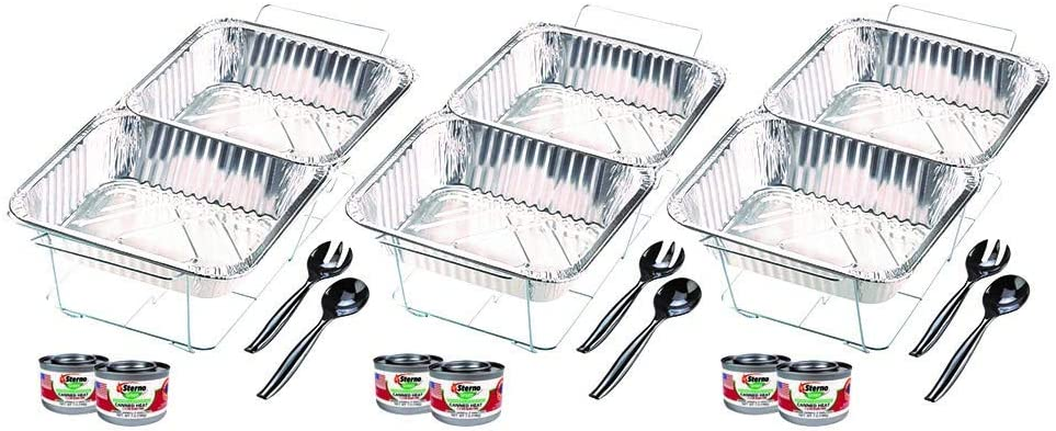 One Size Sterno 70222 24-Piece Disposable Party Set Silver Fоur Paсk