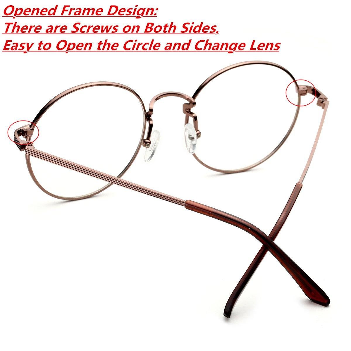 fcde4d511889 Amazon.com: PenSee Optical Metal Eyeglasses Round Circle Oversized Clear  Lense Eyewear Glasses Frames: Clothing